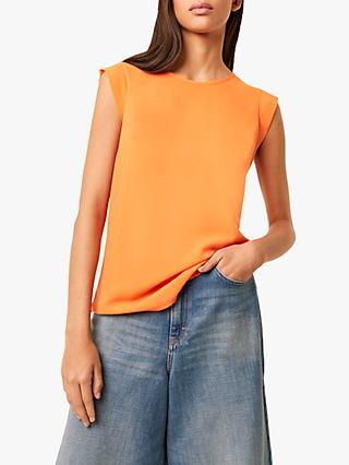 French Connection Abena Light Cap Sleeve Top