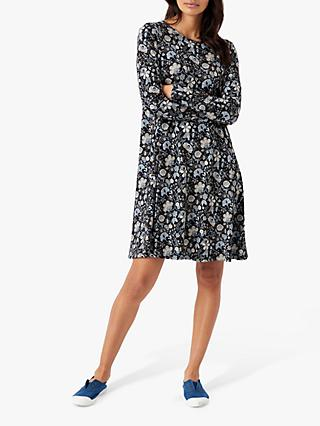 Brora Liberty Swing Tunic Dress, Nimbus Botanic