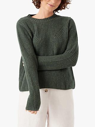 Brora Cashmere Gauzy Ribbed Jumper