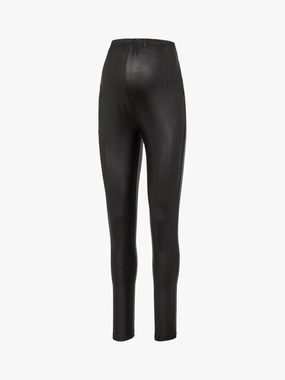 Mamalicious Mamalicious Leather Look Maternity Leggings, Black