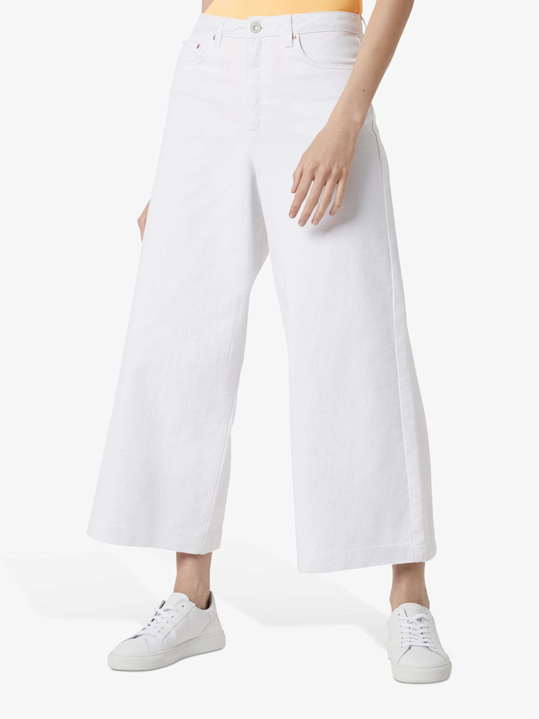 Buy French Connection Reem Denim Culotte Jeans, Summer White, 16 Online at johnlewis.com