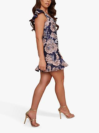Chi Chi London Normani Mini Dress, Navy