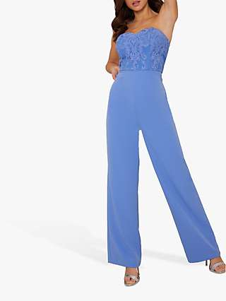 Chi Chi London Dallas Sleeveless Jumpsuit, Blue