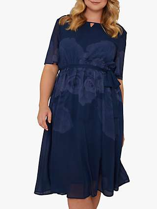 Chi Chi London Curve Seymour Dress, Navy
