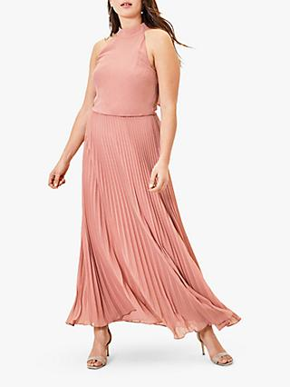 Oasis Pleat Maxi Dress, Pale Pink