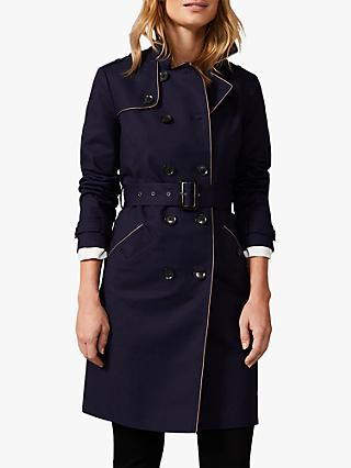 Phase Eight Tali Tipped Trench Coat, Navy