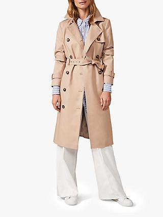 Phase Eight Lise Trench Coat, Stone