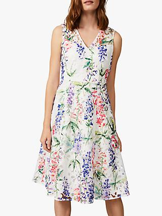 Phase Eight Lonnie Floral Dress, Ivory/Multi