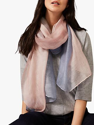 Phase Eight Clementine Scarf, Blue/Pink