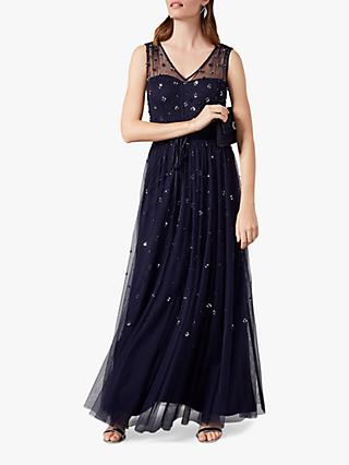 Phase Eight Marcia Sequin Tulle Dress, Midnight
