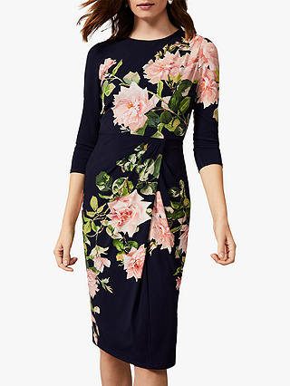 Buy Phase Eight Tracy Floral Jersey Dress, Navy/Multi, 6 Online at johnlewis.com