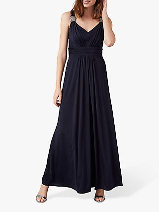 Phase Eight Odetta Embellished Dress, Navy
