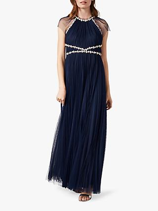 Phase Eight Gerona Embellished Dress, Navy