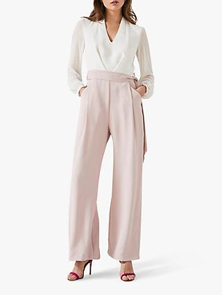 Phase Eight Audrey Two Tone Jumpsuit, Ivory/Antique Rose