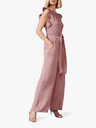 Phase Eight Victoriana Embellished Jumpsuit, Ballet Pink