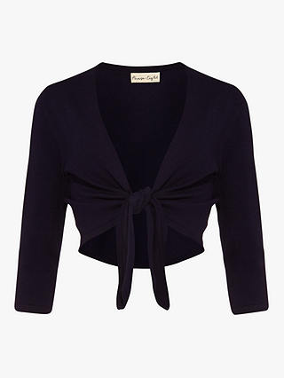 Buy Phase Eight Ana Tie Front Cover Up, Navy, 8 Online at johnlewis.com