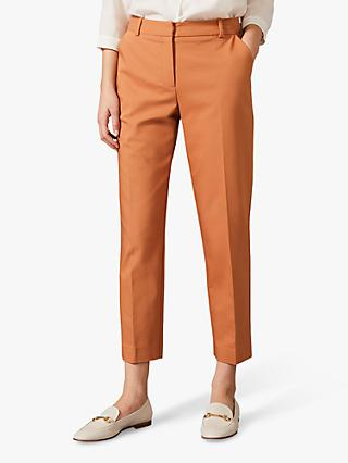 Phase Eight Bronwyn Cropped Trousers, Tobacco