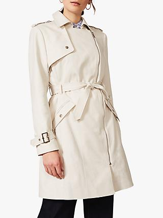 Phase Eight Lacea Biker Coat, Off White