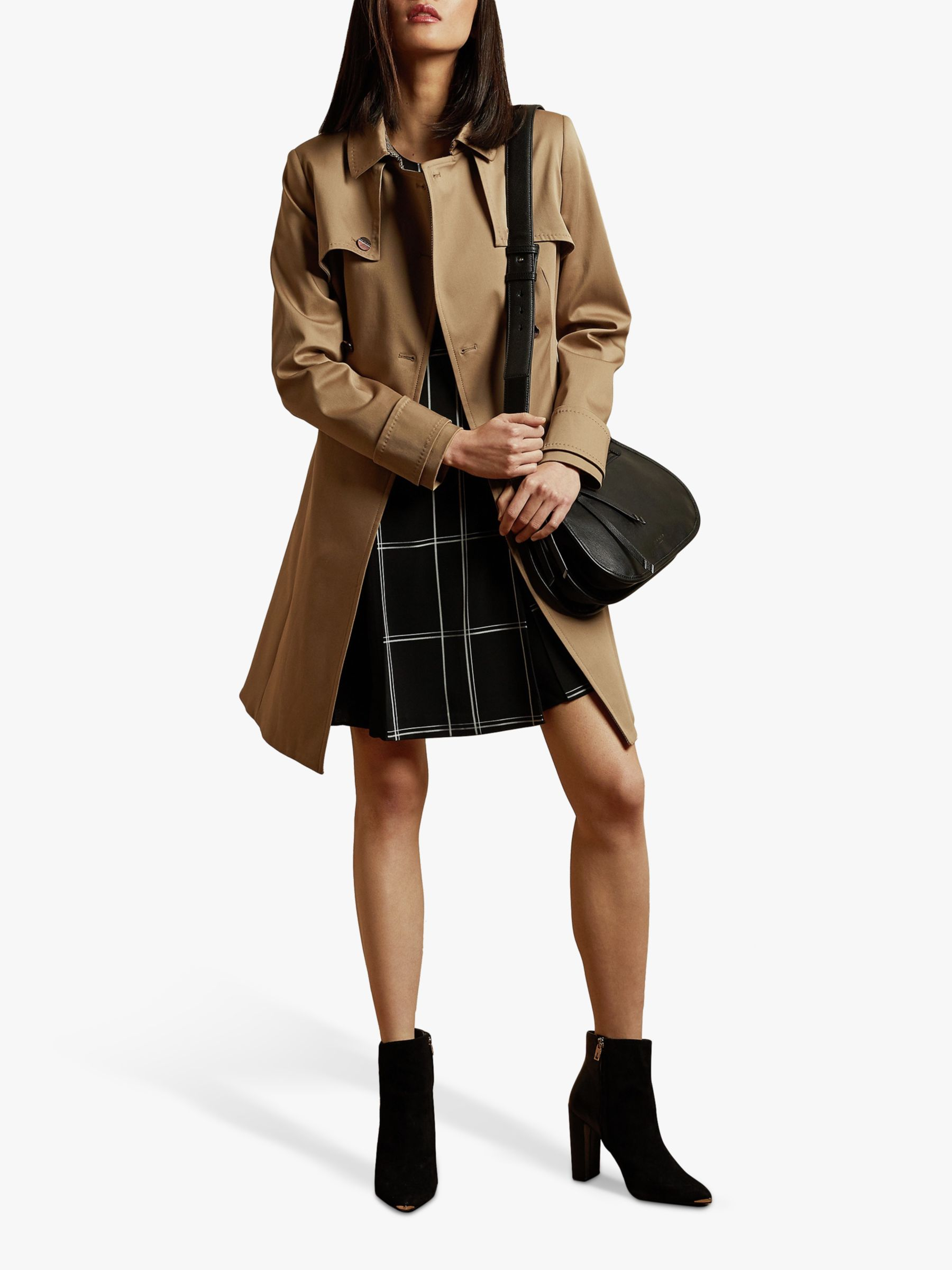 Ted Baker Ted Baker Pandura Cotton Fitted Mac, Tan