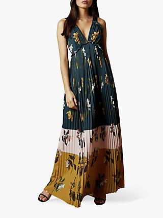 Ted Baker Kaylare Savanna V-Neck Maxi Dress, Dark Blue