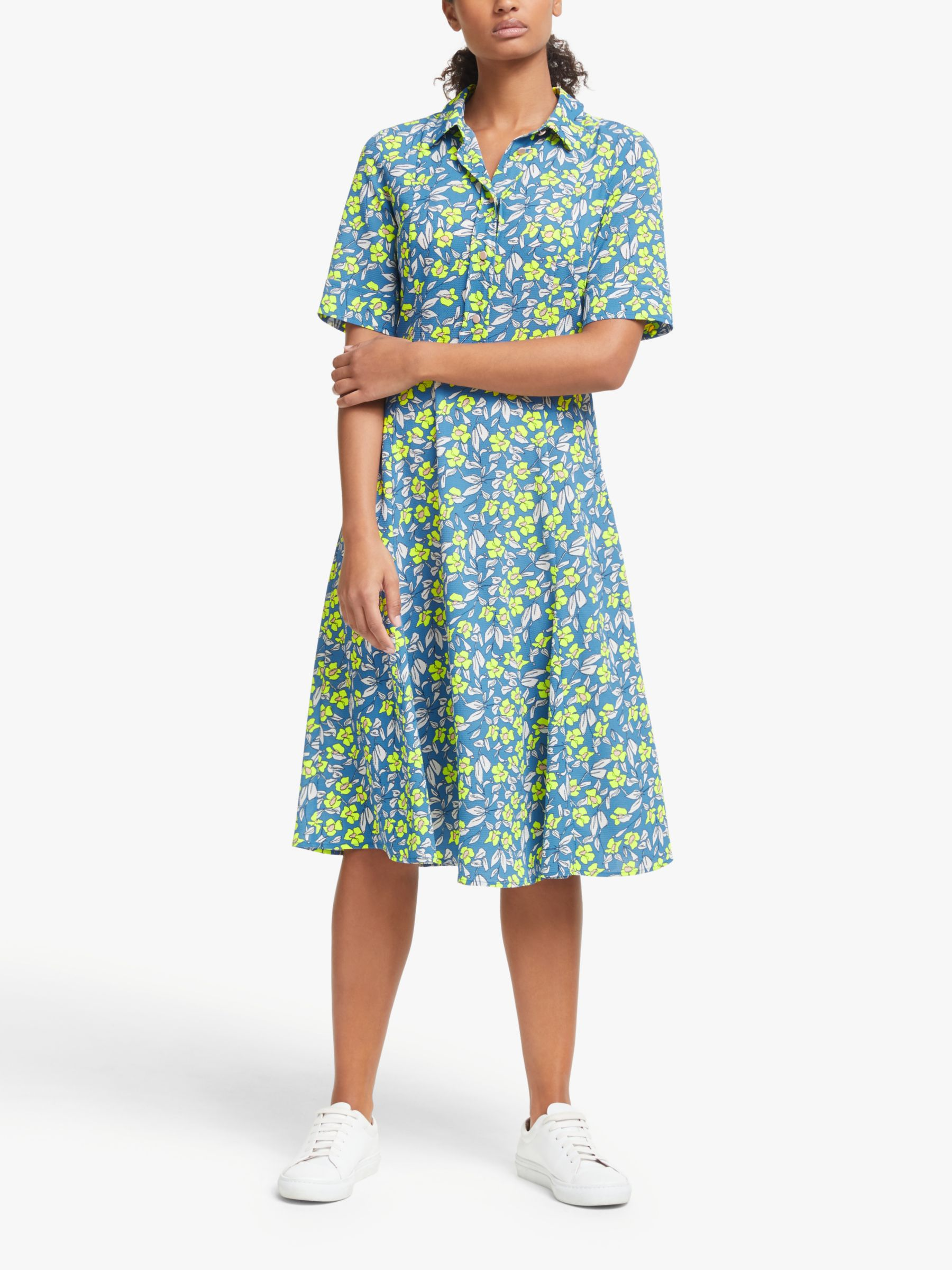 Numph Numph Nuaideen Floral Shirt Dress, Pacific Coast