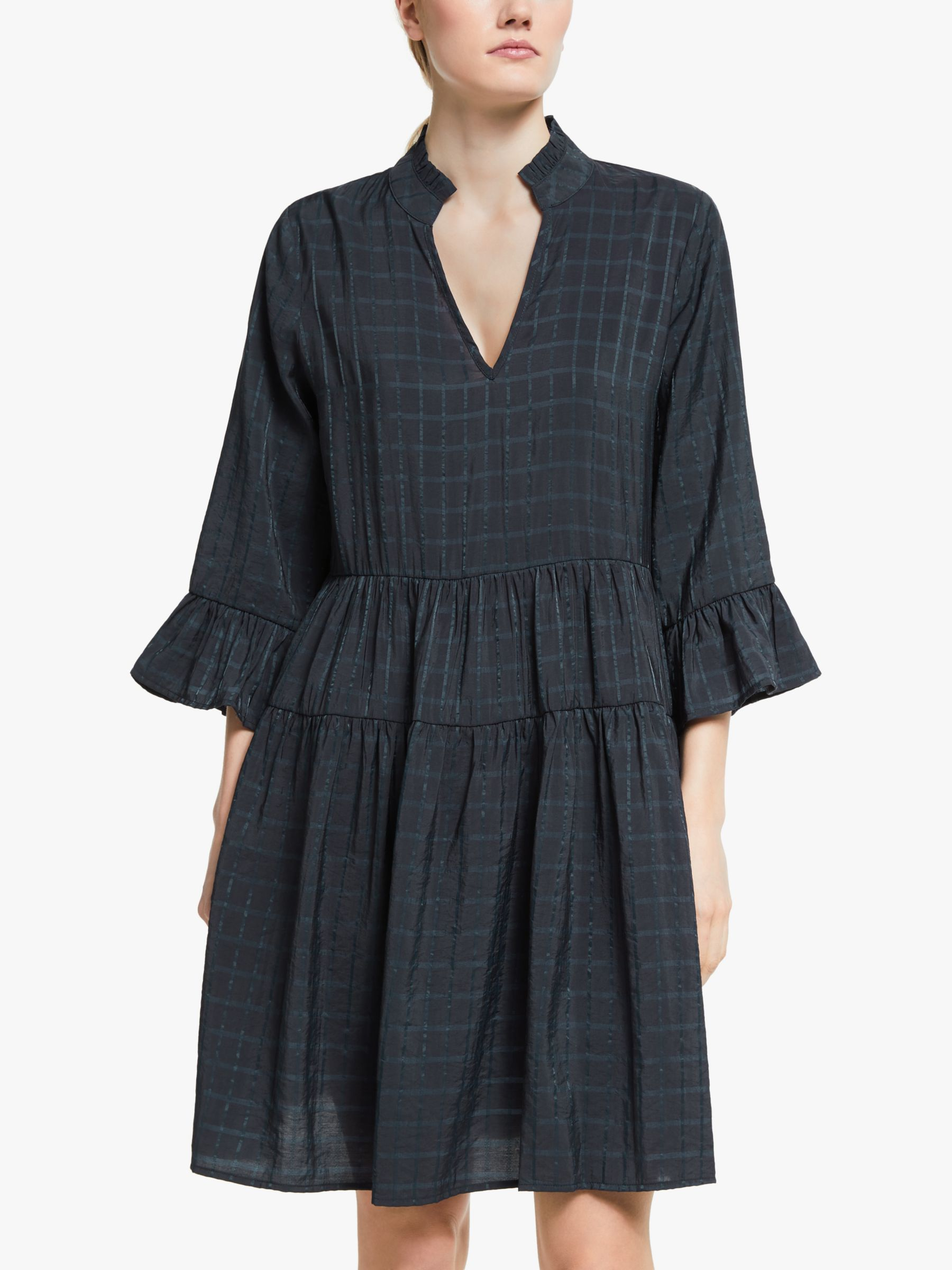 Numph Numph Nubeula Check Shift Dress, Sapphire