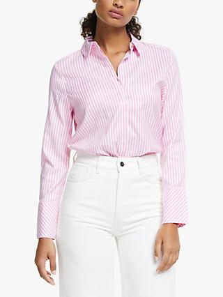 Numph Nuaiden Stripe Shirt, Pink Carnation