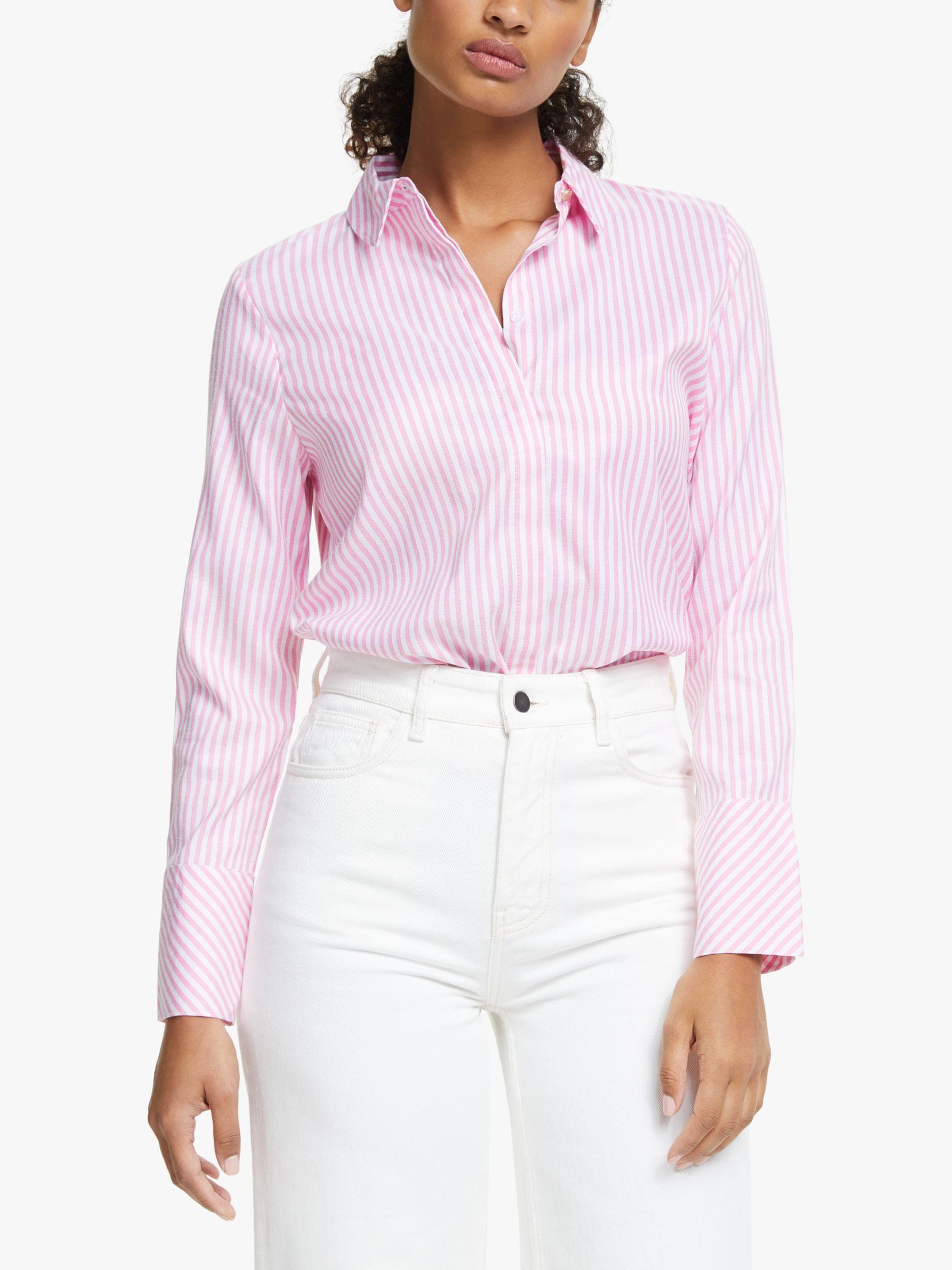 Numph Numph Nuaiden Stripe Shirt, Pink Carnation