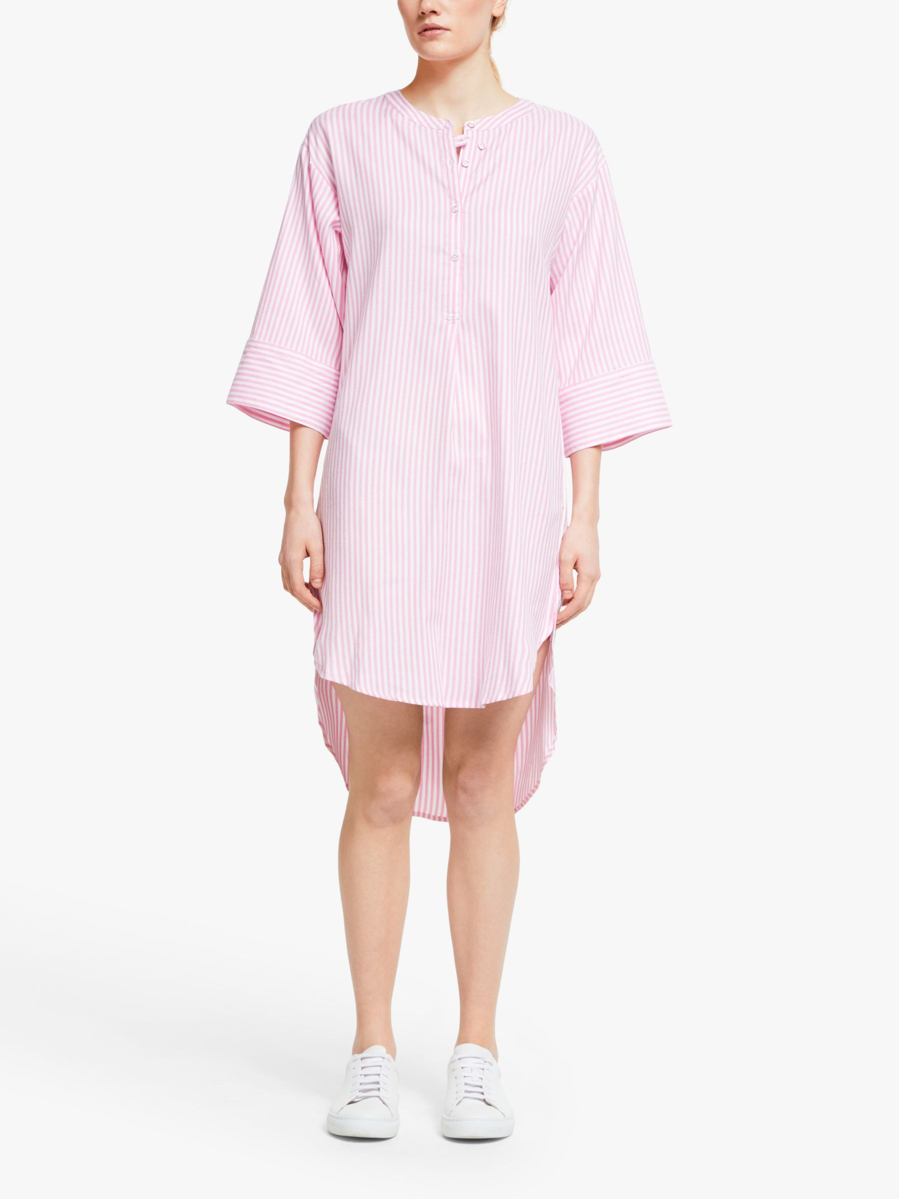Numph Numph Nuaiden Stripe Shirt Dress, Pink Carnation