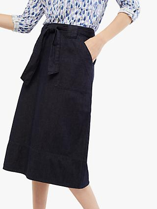 White Stuff Floret Skirt, Denim