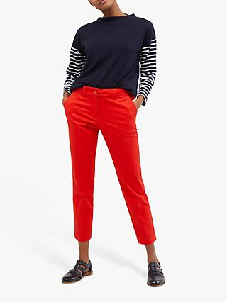 White Stuff Sussex Cotton 7/8 Trousers, Red