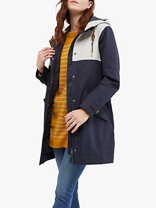 White Stuff Middlehaum Colour Block Rain Mac, Navy