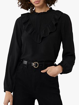 Warehouse Ruffle Neck Shirt