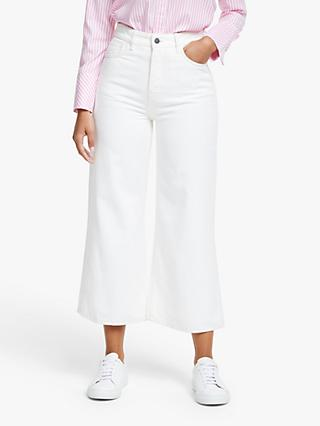 People Tree Areil Wide Leg Jeans, White