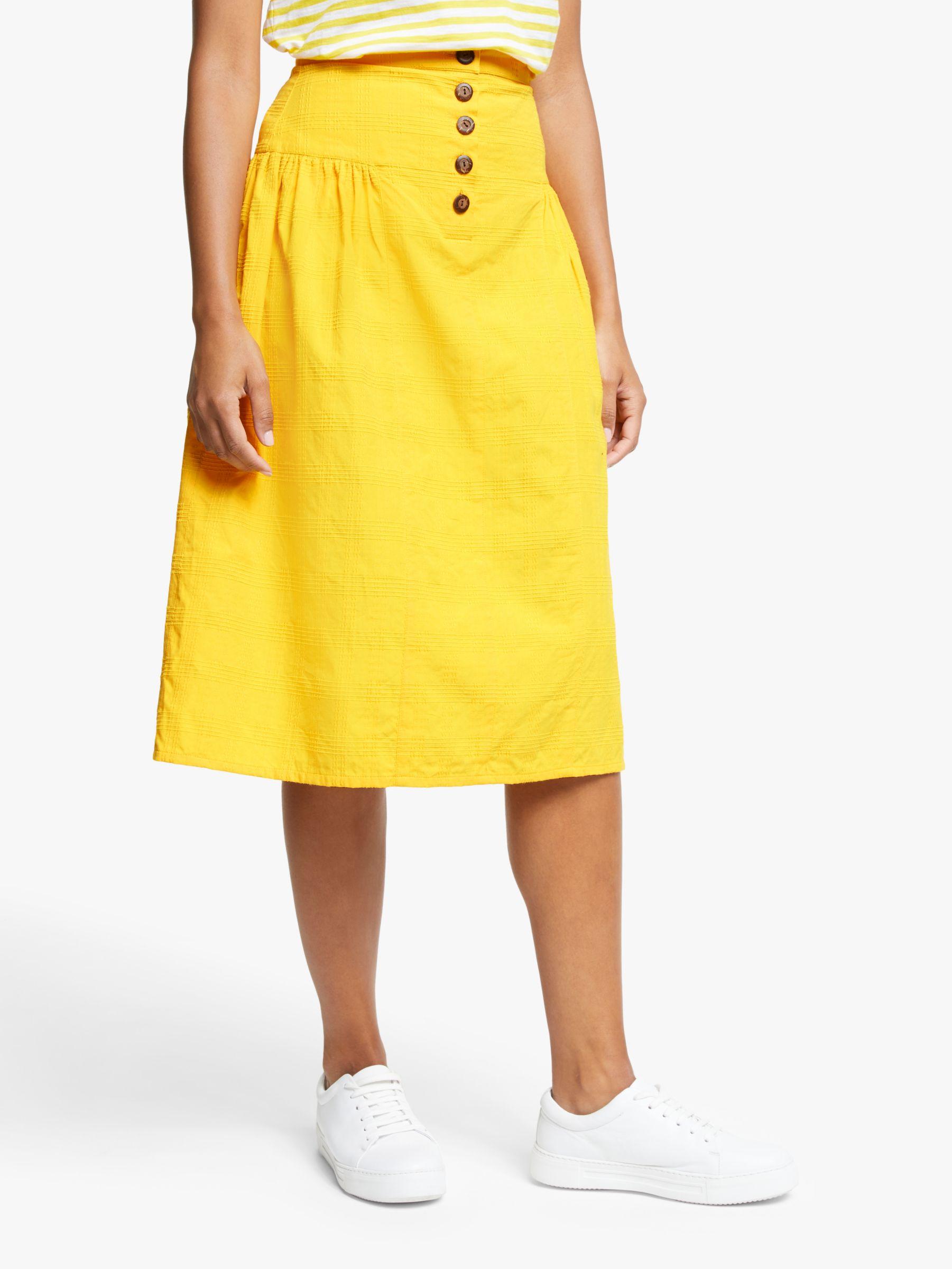 People Tree People Tree Epperly Midi Skirt, Yellow