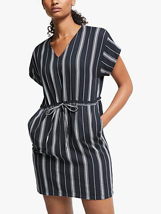 People Tree Stripe Dress, Blue