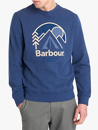 Barbour Caldey Crew Sweatshirt, Navy