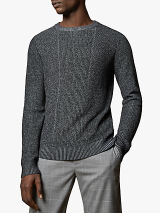 Ted Baker Mixme Crew Neck Jumper, Charcoal