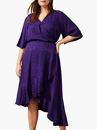 Studio 8 Olive Floral Jacquard Dress, Purple