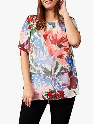 Studio 8 Fabia Floral Top, Ivory Multi
