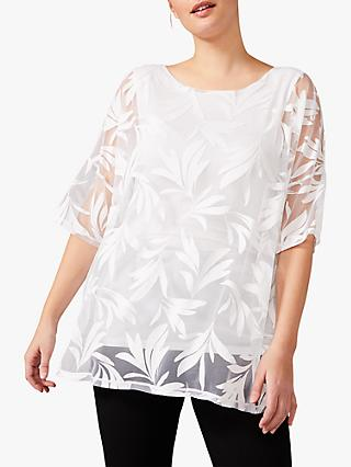 Studio 8 Layla Burnout Top, White