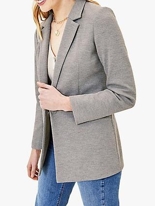 Oasis Ponte Jacket, Mid Grey