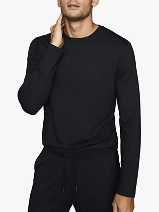 Reiss Armstrong Crew Neck Jersey Top, Charcoal