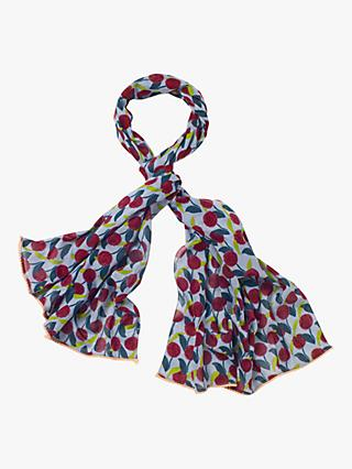 White Stuff Carrie Organic Cotton Scarf, Wine