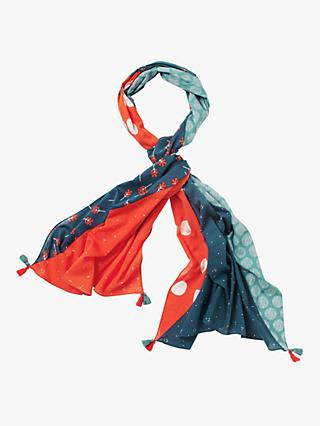 White Stuff Carrie Organic Cotton Scarf, Coral Red