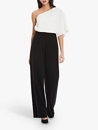 Adrianna Papell Crepe Tuxedo Trousers, Black