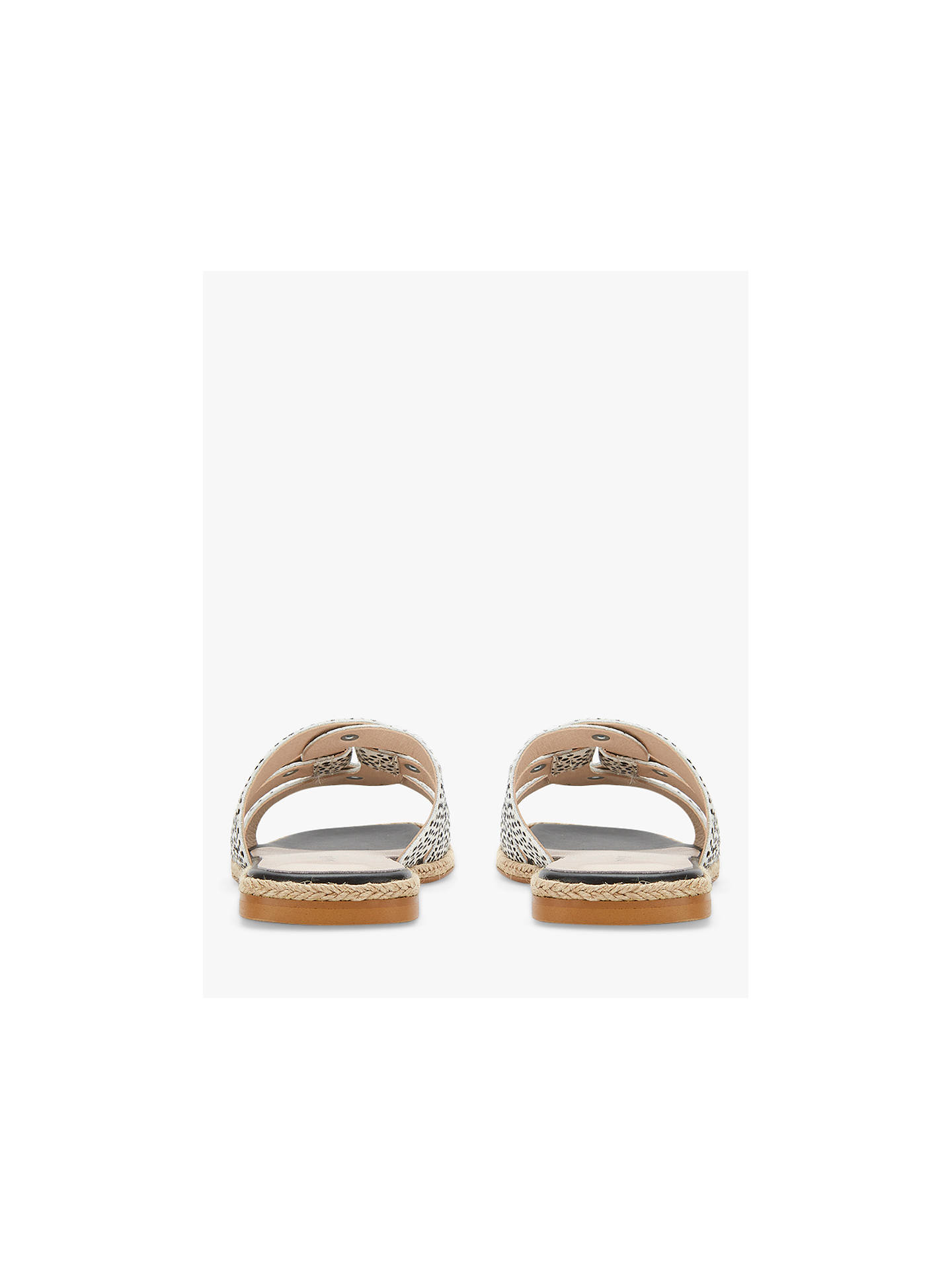 Buy Mint Velvet Poppy Animal Print Leather Sliders, Black/White, 3 Online at johnlewis.com
