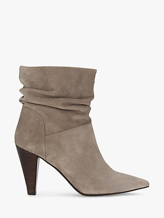 Mint Velvet Mary-Ann Suede Slouchy Ankle Boots, Taupe