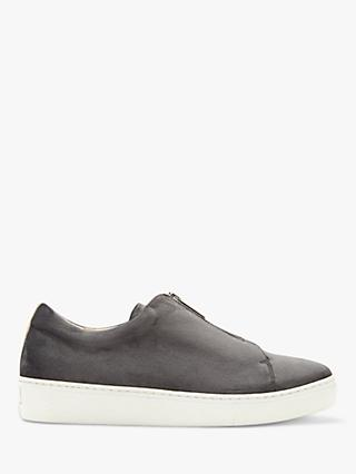 Mint Velvet Gabbi Velvet Trainers, Grey
