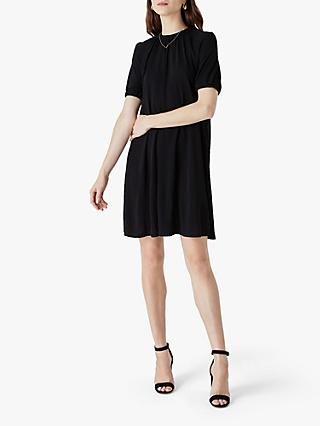 Finery Riley Gather Neck Jersey Dress, Black